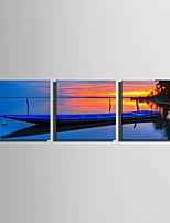 Paisagem Moderno,3 Painéis Tela Quadrangular Impressão artística Decoração de Parede For Decoração para casa