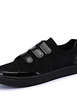 Men's Sneakers Spring Summer Fall Winter Comfort Tulle Outdoor Athletic Casual Flat Heel Black White Walking