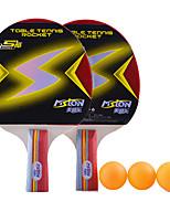 2 Stars Ping Pang/Table Tennis Rackets Ping Pang Wood Short Handle Pimples