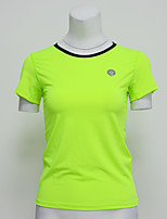 Women's Short Sleeve Running T-shirt Tops Breathable Quick Dry Sports Wear Yoga Exercise & Fitness Running Polyester Elastane Tight