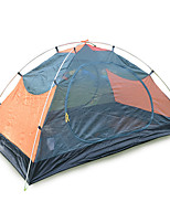 JUNGLEBOA 2 Pessoas Tenda Duplo Barracas para Acampamento Família Um Quarto Barraca de acampamento 2000-3000 mm Oxford Poliéster TafetáÁ