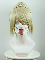 Final Fantasy XV Luna Fredia Light Gold Tigers Clamp Pony Cosplay Wigs
