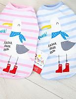 Chat Chien Tee-shirt Vêtements pour Chien Eté Printemps/Automne Animal Mignon Décontracté / Quotidien Rose Bleu clair