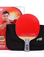 6 étoiles Ping Pang/Tennis de table Raquettes Ping Pang Bois Manche Court Boutons