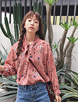 Women's Casual/Daily Simple Blouse,Floral Crew Neck Long Sleeve Others