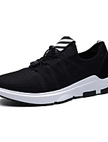 Men's Fashion Sneakers Casual Shoes Comfort Tulle Athletic Shoes Flat Heel Lace-up Black / Blue