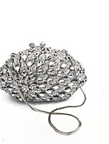 Women Clutches Evening Silver Coverd with Full Crystals for Evening/Event/Cocktail Occasion