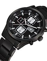 SKONE Masculino Relógio Esportivo Relógio de Moda Quartzo Calendário Impermeável Lega Banda Preta
