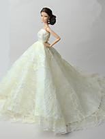 Wedding Dresses For Barbie Doll Dresses For Girl's Doll Toy