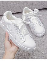 Women's Sneakers Spring Light Soles Microfibre Casual White
