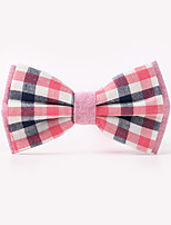 The Fashion Leisure Clothing Accessories CB01903 Cotton Men's Plaid Bow Tie
