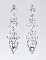 New Style Leaves Crystal Earrings