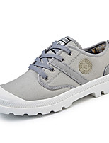 Men's Sneakers Spring Fall Comfort Fabric Outdoor Flat Heel Lace-up Light Green Light Blue Green Red Light Yellow Walking