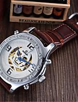 Мужской Модные часы Механические часы С автоподзаводом Кожа Группа Черный Коричневый