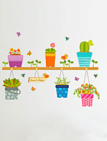 Botánico Caricatura Florales Pegatinas de pared Calcomanías de Aviones para Pared Calcomanías Decorativas de Pared,Vinilo Material