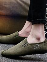 Черный Серый Зеленый-Для мужчин-Повседневный-Полиуретан-На плоской подошве-Удобная обувь-Мокасины и Свитер