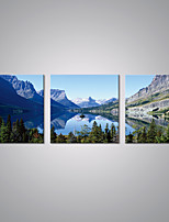 Stretched Canvas Prints Landscape  Picture Print Blue Mountain Contemporary Art for Livingroom Decoration