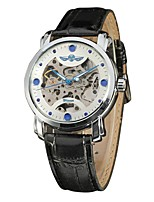 WINNER Winner Blue Circle Scale Hollow Waterproof Back Through The Belt Automatic Mechanical Watch