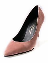 Mujer Sandalias Confort PU Verano Exterior Paseo Tacón Stiletto Negro Gris Verde Rosa Menos de 2'5 cms