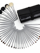 40 Black Silver Bar Makeup Brush Suit Animal Hair Makeup Brush With Makeup Brush To Brush The Ebay Foreign Trade Hot Sale