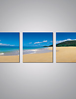 Stretched Canvas Prints Blue Sky and Sunny Beach Picture Print Contemporary Art for Livingroom Decoration