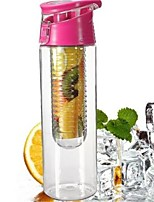 1Pcs Cycling Sport Fruit Infusing Infuser Water Lemon Cup Juice Bicycle Health Eco-Friendly   Flip Lid