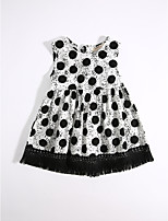 Girl's Casual/Daily Polka Dot Dress,Cotton Summer