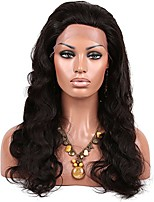 10-26 Inch Big Body Wave Wig Brazilian Human Virgin Human Hair Glueless Lace Front Wig with Baby Hair