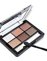 NOVO 6 Eyeshadow Palette Pumpkin Shimmer Eyeshadow With Brush