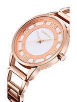 Mujer Reloj de Moda Cuarzo Resistente al Agua Acero Inoxidable Banda Plata Dorado Oro Rosa