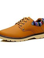 Men's Oxfords Spring Fall Comfort Wedding Office & Career Casual Flat Heel Rivet Brown Dark Blue Black Walking