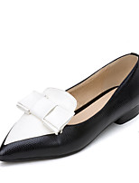 Women's Heels Spring Comfort Leatherette Office & Career Dress Casual Low Heel Split Joint