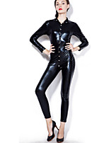 Women's Teddy Nightwear,SexyMedium Patent Leather PU Women's