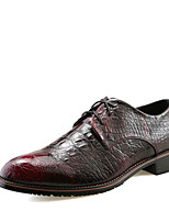 Men's Oxfords Spring Summer Formal Shoes Microfibre Office & Career Party & Evening Casual Low Heel Red Brown Silver Black