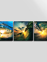 Canvas Print Seascape  Wave ModernThree Panels Canvas Square Print Wall Decor For Home Decoration