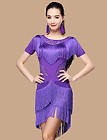Shall We Latin Dance Dresses  Women Polyester/Lace 2 Pieces