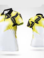 Mulheres Manga Curta Golfe Camiseta Polo Respirável Redutor de Suor Macio Confortável Cinzento Amarelo Vermelho Azul Alpinismo Golfe