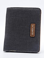 Men PU Canvas Sports Casual Outdoor Wallet All Seasons