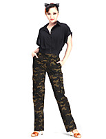 Latin Dance Bottoms Women's Performance Cotton Polyester 1 Piece Natural Pants