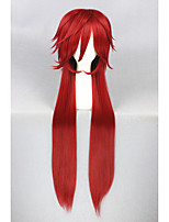 Black Butler-Grell Sutcliff Dark Red 40inch Anime Cosplay Wigs CS-137A