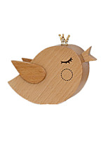 Music Box Bird Holiday Supplies Wood Unisex