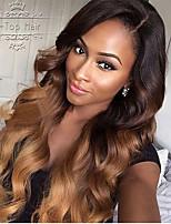 Peruca cheia glueless do laço do ombre três cores de tom # 1b t # 4 # 30 perucas dianteiras do laço perca wigs do cabelo humano da onda