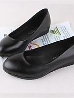 Черный-Для женщин-Повседневный-ПолиуретанУдобная обувь-Мокасины и Свитер