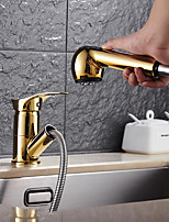 High Quality Brass Ti-PVD Finish Single Handle One Hole Rotatable Kitchen Sink Faucet