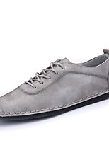 Men's Loafers & Slip-Ons Spring Fall Comfort Leatherette Outdoor Office & Career Casual Flat Heel Khaki Gray Black