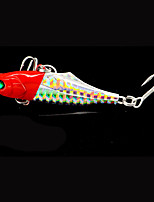 1 pcs Metal Bait Fishing Lures Pike Red Blue gold black back g/Ounce,80 mm/3-1/4