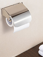Toilet Stainless Steel Roll Paper Holder Ring Bracket Tissue Rack Chrome Finish