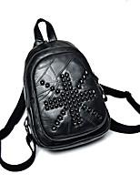 Women Backpack PU All Seasons Formal Casual Outdoor Office & Career Shopping Bucket Zipper Black