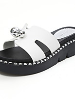 Women's Slippers & Flip-Flops Summer Creepers Leatherette Outdoor Dress Casual Creepers Metallic toe Black White Walking