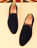 -Для мужчин-Повседневный-Кожа-На низком каблуке-Удобная обувь-Мокасины и Свитер